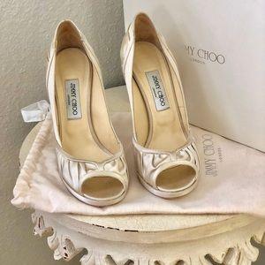 Jimmy Choo Champagne Heels